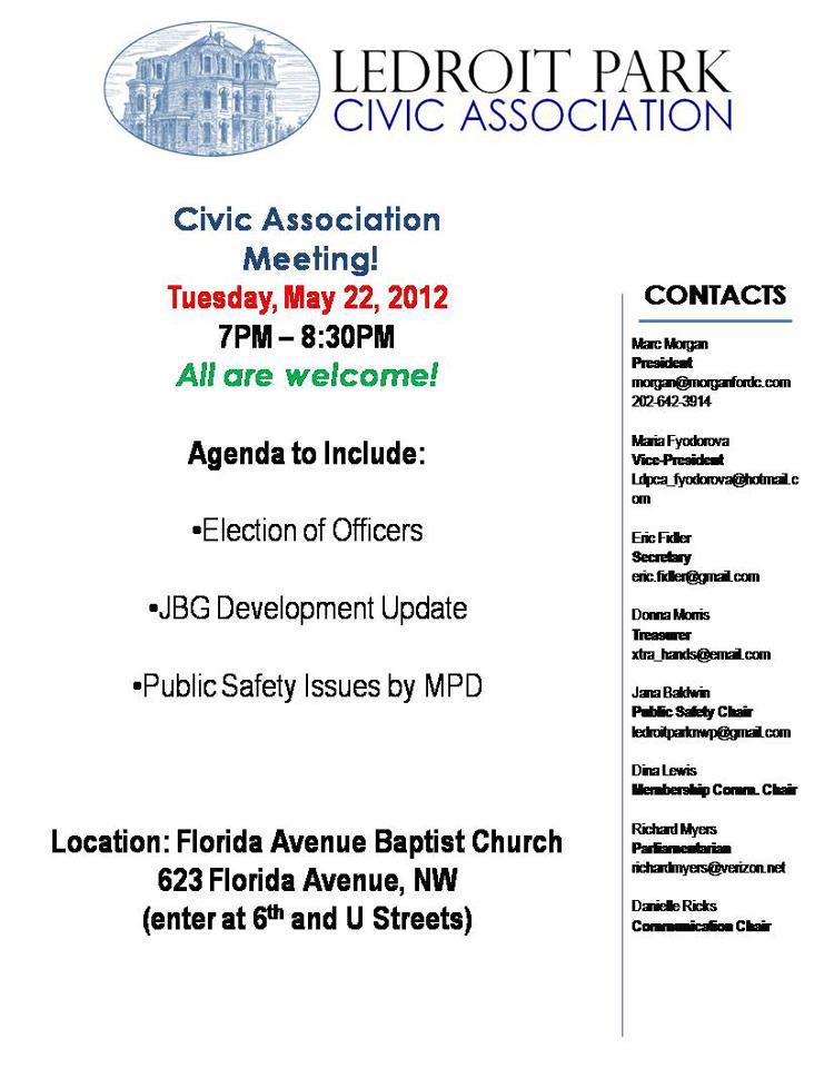 LDP May 22 2012 Agenda