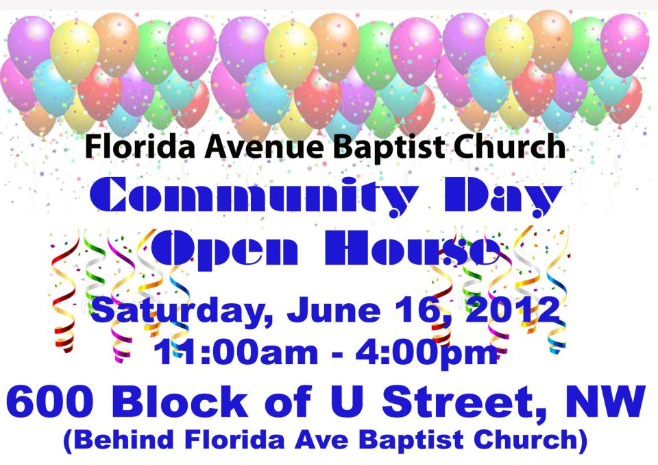 Florida Avenue Baptist Church Community Day 6/16/12- 11am-4pm