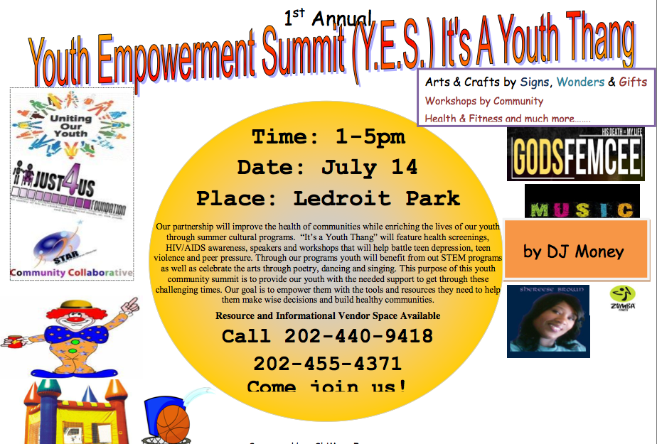 Uniting Our Youth Summit 1pm-5pm at The Park at LeDroit 7/14/12