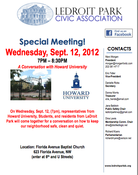 A Conversation with Howard University Sept. 12, 2012 7:00