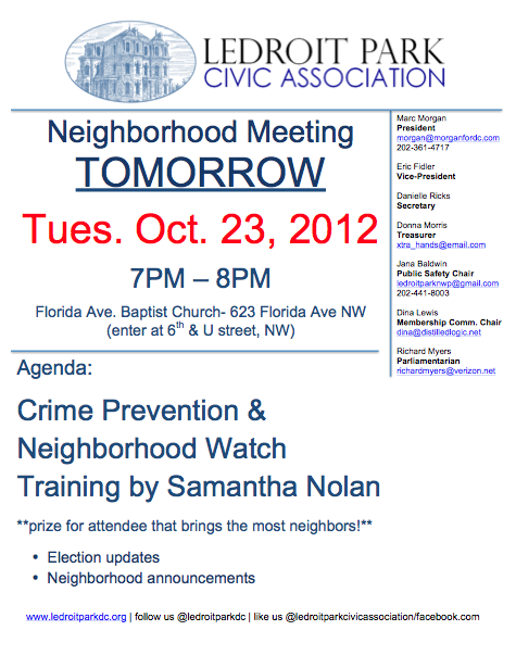 LDP 102312 Crime Prevention Meeting