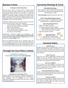 Spring 2014 Newsletter is HERE!!