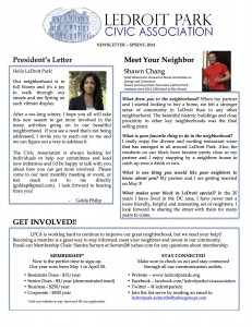 LPCA May Newsletter front