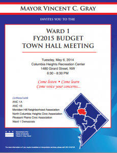 Budget Town Hall TOMORROW!!