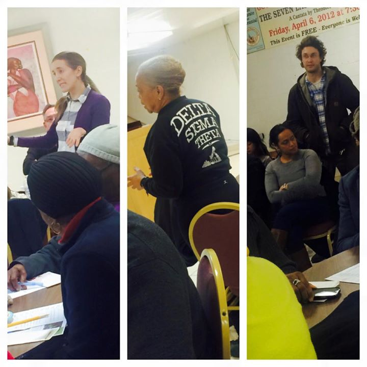 LeDroit Park Residents Stand to ask questions to Mayor Muriel Bowser at the February meeting