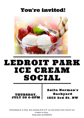 LeDroit Park Ice Cream Social