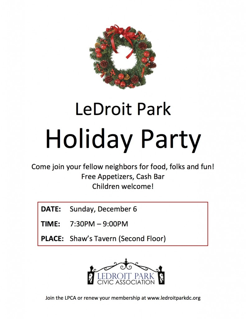 {You're Invited!} The LPCA Holiday Party