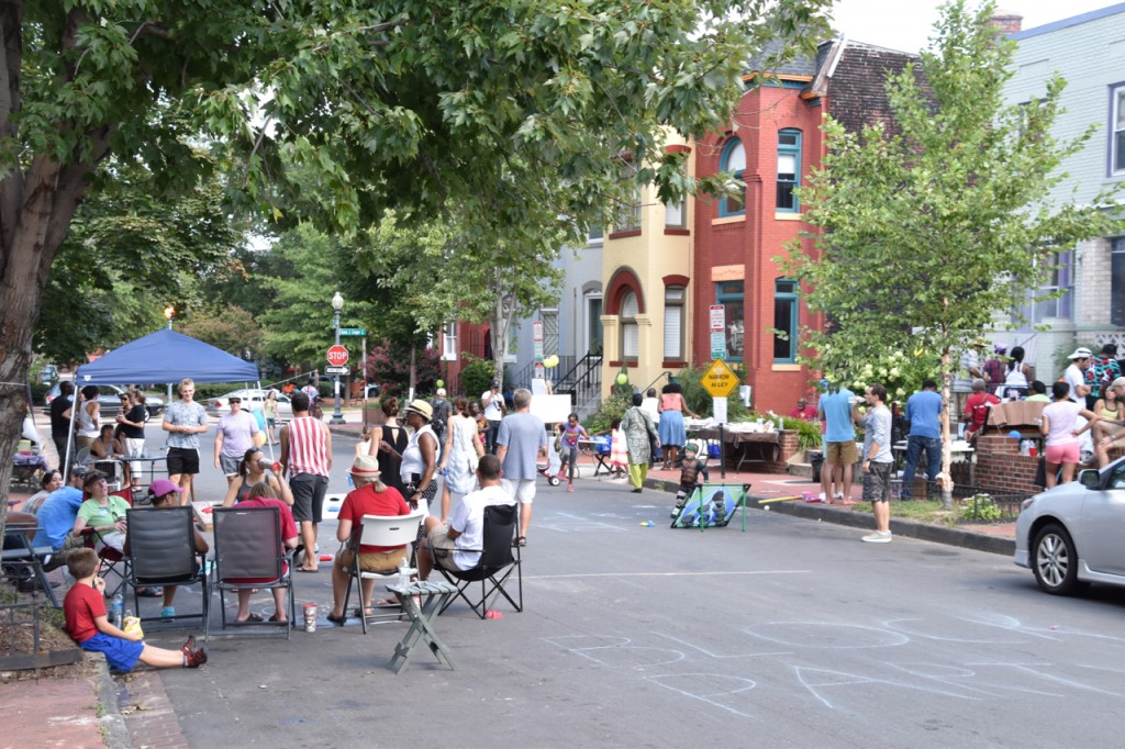 Neighbors gather at the second annual LeDroit Park Block Party