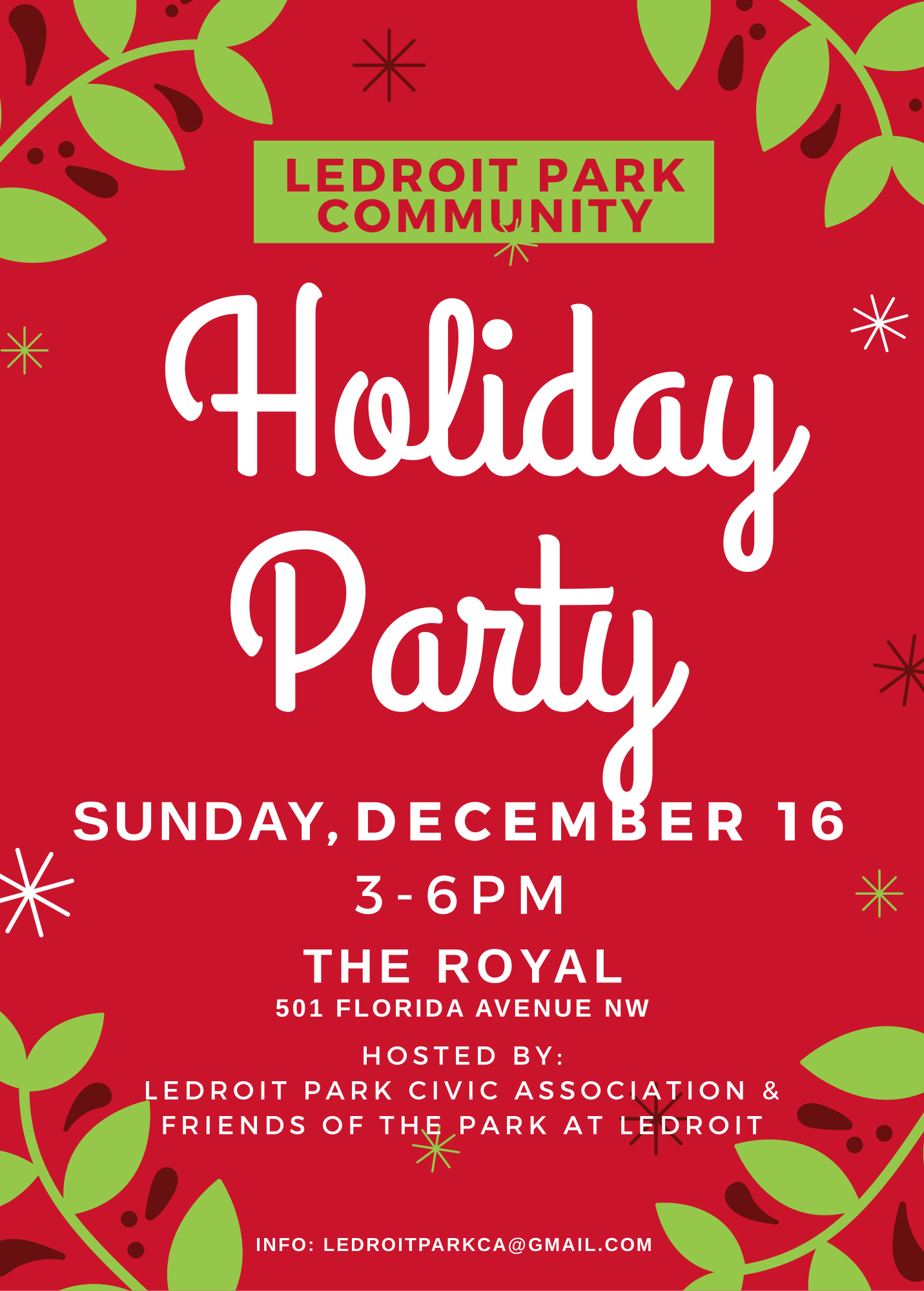 LeDroit Park Civic Association Holiday Party @ The Royal | Washington | District of Columbia | United States