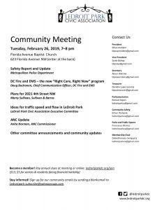 February 2019 Meeting Agenda