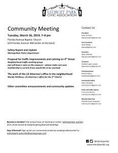 March Meeting Agenda