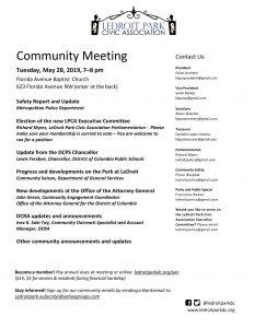 May 2019 LPCA Meeting Agenda